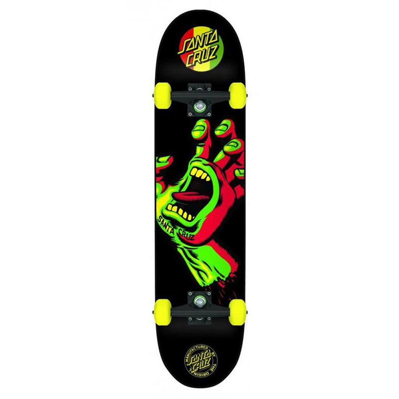 Santa Cruz Complete Screaming Hand Rasta Rasta 7.75 IN