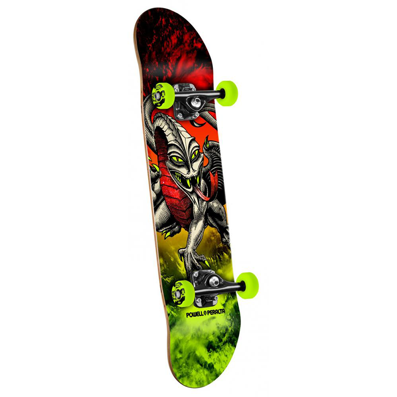 Powell Peralta Complete Storm Cab Dragon Red/Lime 7.75 IN