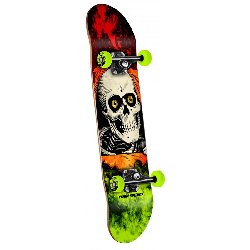 Powell Peralta Complete Storm Ripper Red/Lime 8 IN